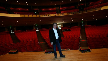 Star Plaza Theater celebrates the start of its fourth decade in show business. (Photograph by John Luke/The Times.)