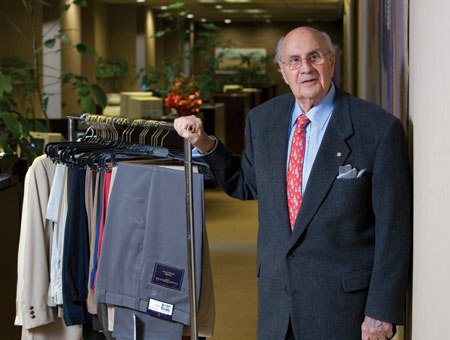 Burton Ruby, former chairman of Jamar-Ruby, was inducted into the <em>BusINess</em> Hall of Fame in 2009. (Photograph by Jon L. Hendricks.)