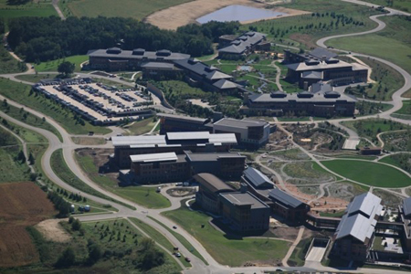 Epic's sprawling, eco-friendly campus is located in Verona, Wisconsin. (Photograph courtesy of JJR architecture firm.)
