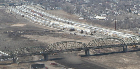 Fertilizer maker PotashCorp is working with Indiana Harbor Belt Railroad on what would be an $80 million project at the Gibson Yard in Hammond, Mayor Thomas McDermott Jr. said. PotashCorp Public Affairs Director Bill Johnson confirmed the site, west of Indianapolis Boulevard, is one of several the company has looked at in the Midwest for its new operation. (Photograph by John J. Watkins/The Times)